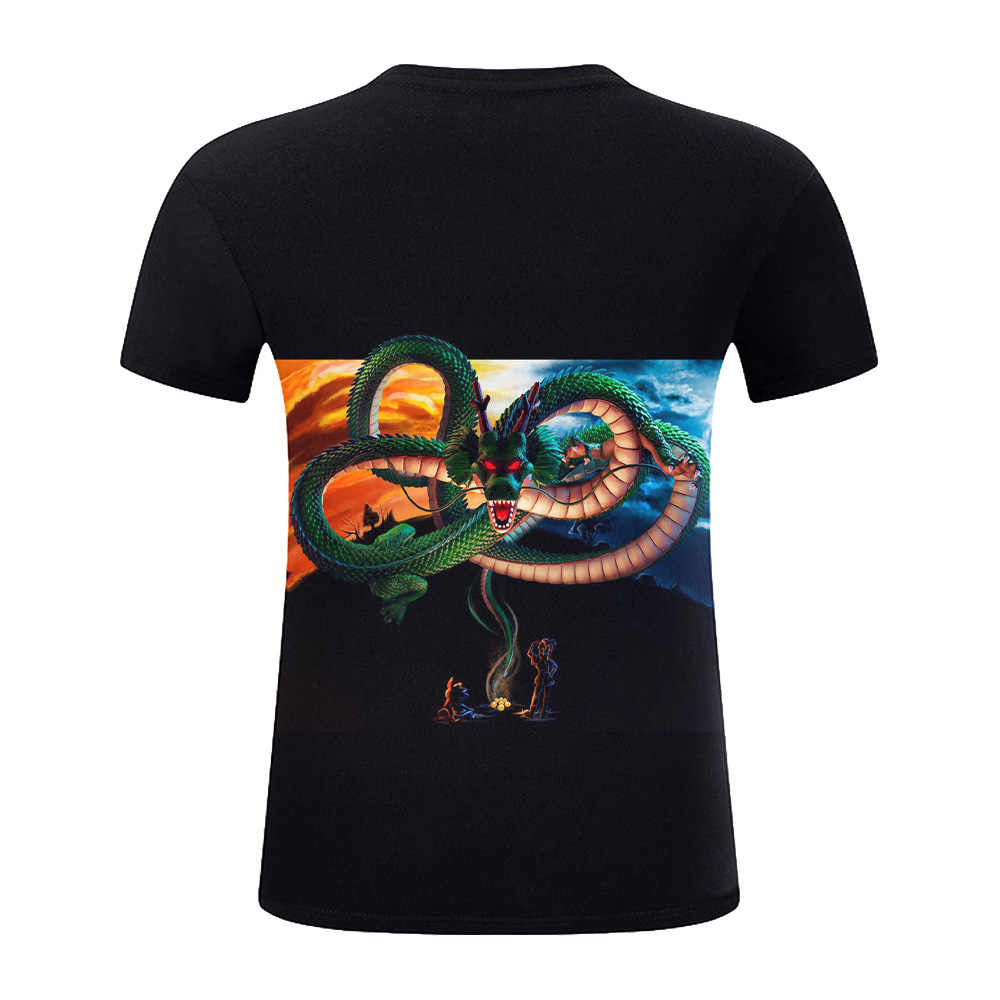 2019 новые футболки с драконом и мячом Z мужские летние повседневные футболки с 3D принтом Супер Саян Гоку черного цвета Zamasu Vegeta Dragon Ball