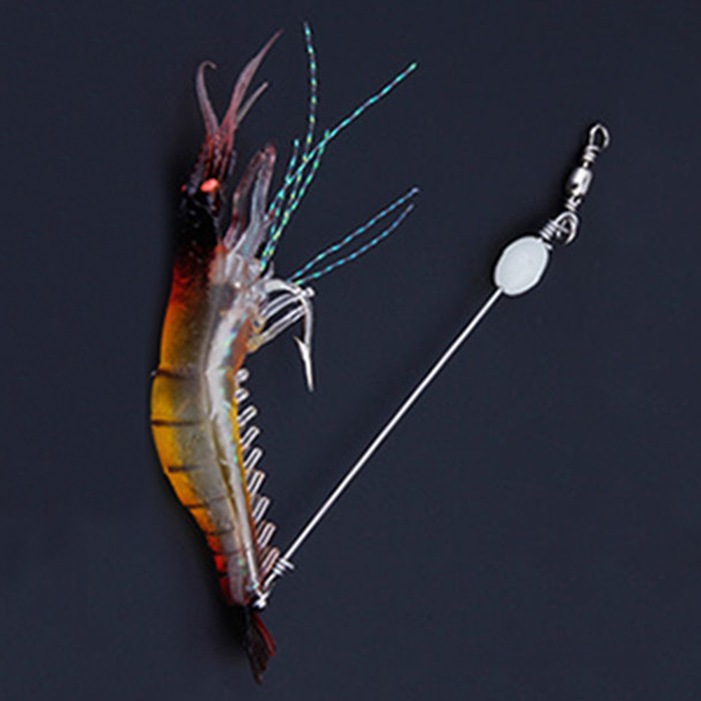 1Pc 9cm Soft Silicone Shrimp Fishing Lure Artificial Fishing Minnow Trout Fish Lures Bait Hook Tackle Jig
