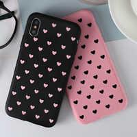 Funda de teléfono con corazón de amor para Samsung Galaxy A80 A70 A60 A50 A40 A30 A20e A10 M10 M20 M30 cubierta suave para Samsung S10 más S10e caso