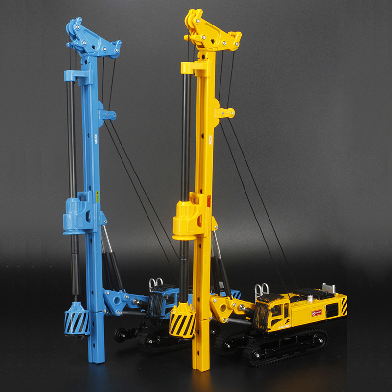 Spin Drilling Rig Model alloy car model Refined metal Engineering Construction vehicles truck Decoration Classic Toys norev 1 43 507 classic vintage car model removable roof alloy car models favorite model