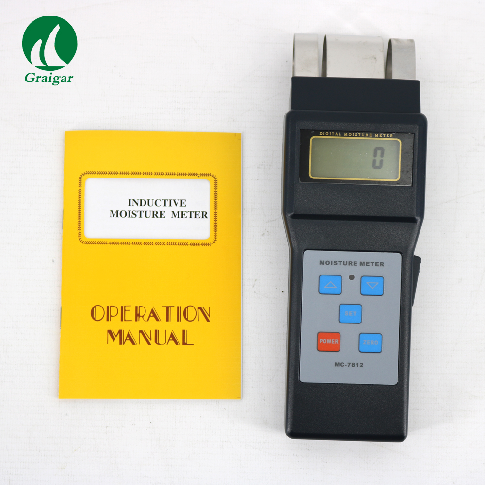 MC7812 Moisture Meter MC-7812 for Wood Materials electromagnetic induction penetration depth up to 50mm mc 7812 digital inductive wood tree moisture meter 0 80