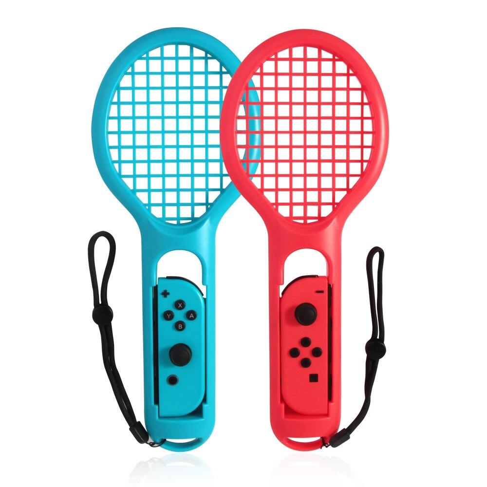 10 paires 2 couleurs raquette de Tennis Joy-con poignées pour Ma rio jeux de Tennis pour nintention pour Switch