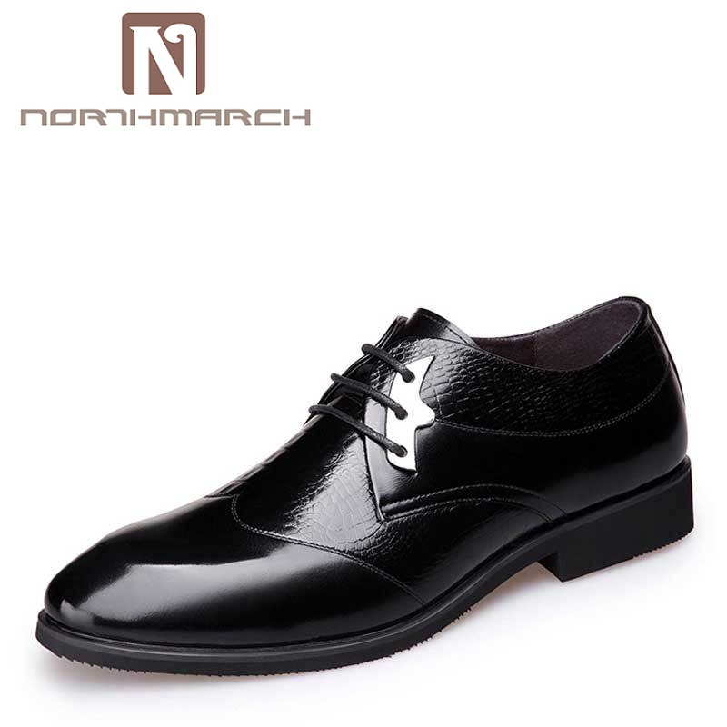 NORTHMARCH Men Flats Fashion High Quality Leather Shoes Mens Lace Up Business Dress Shoes Oxfords For Men Zapatos Hombre gram epos men high quality winter warm plush oxfords casual shoes men dress business lace up flats zapatos de hombre male botas