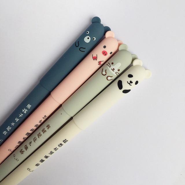 Animali del fumetto Penna Cancellabile 0.35 millimetri Cute Panda Gatto Magico Penne Kawaii Gel Penne Per La Scuola di Scrittura Cancelleria Della Novità Delle Ragazze regali 2