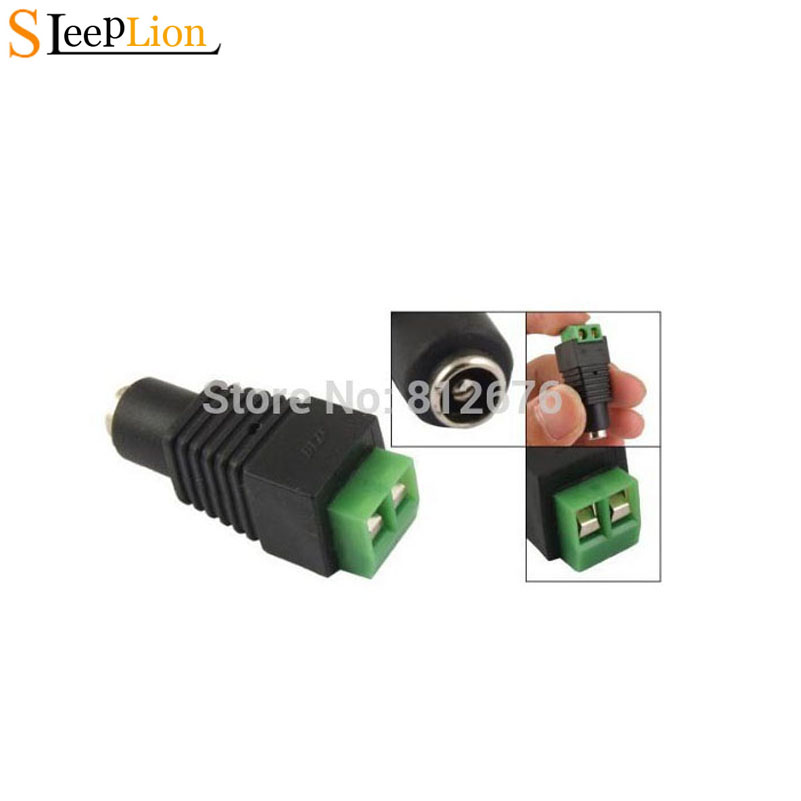 Sleeplion 5.5mm x 2.1mm CCTV DC Power Cable Female Connector Plug for CCTV Camera Connector Adapter,50 PCS