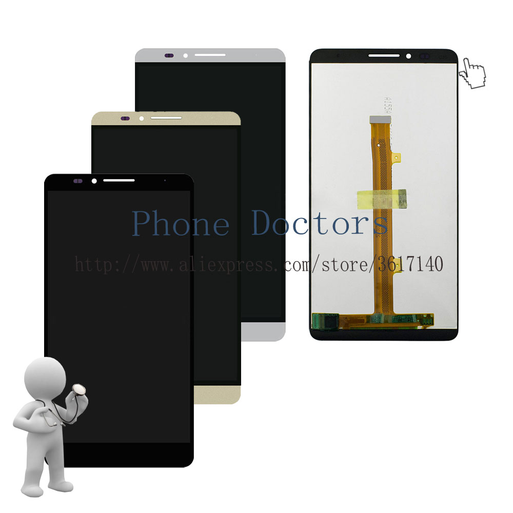 6.0 inch Full LCD DIsplay + Touch Screen Digitizer Assembly For Huawei Ascend Mate 7 MT7-TL10 Mate7 ; New ; 100% Tested