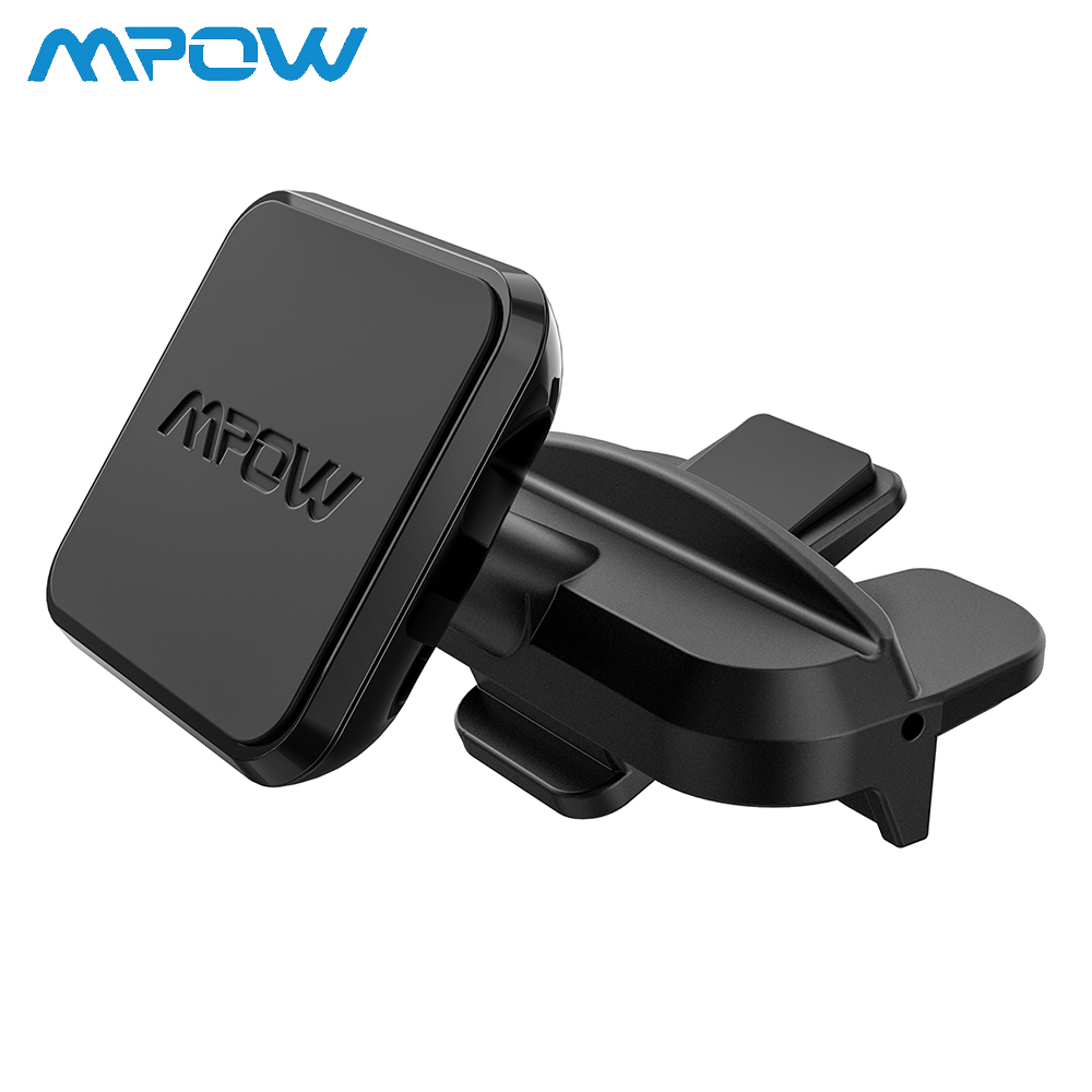Mpow Universal Magnetic Car Phone Holder CD Slot Car Mount Car One Step Installation 360Degree Rotatable