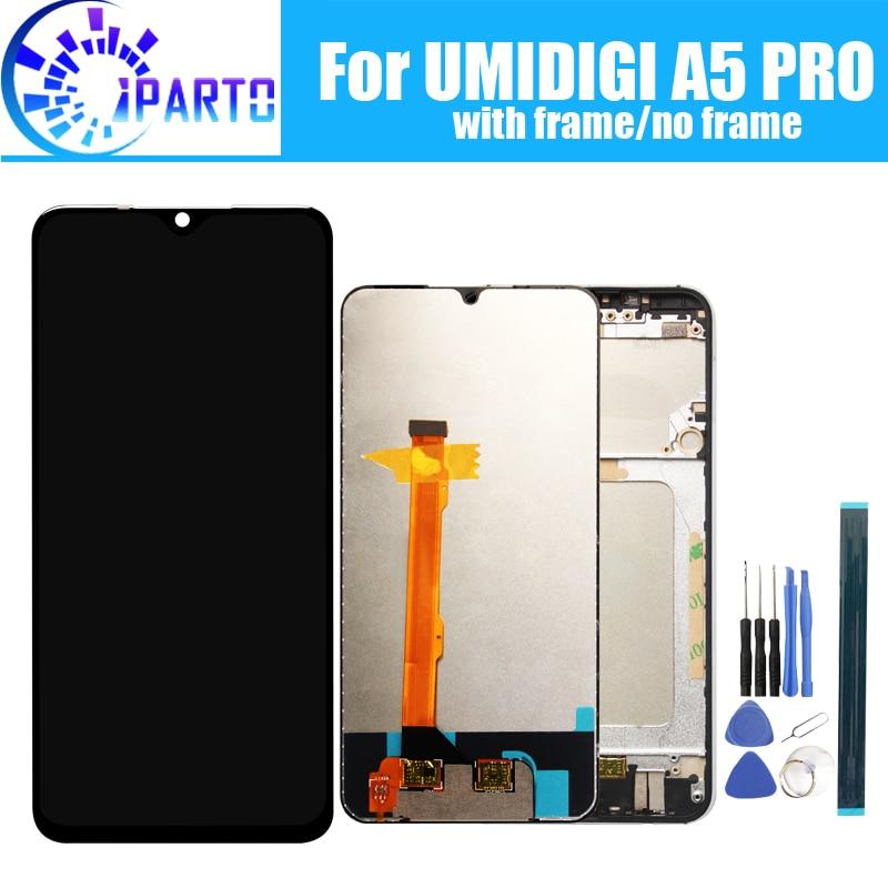 6.3 polegada umidigi a5 pro display lcd + de tela toque 100% original testado lcd digitador vidro substituição do painel para umidigi a5 pro