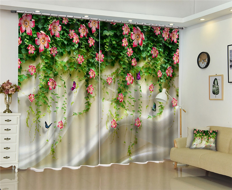 US $84.0 20% OFF|Modern window curtains home decoration fashion fabrics for  curtains living room 3D Wedding scenes window treatment balcony-in ...