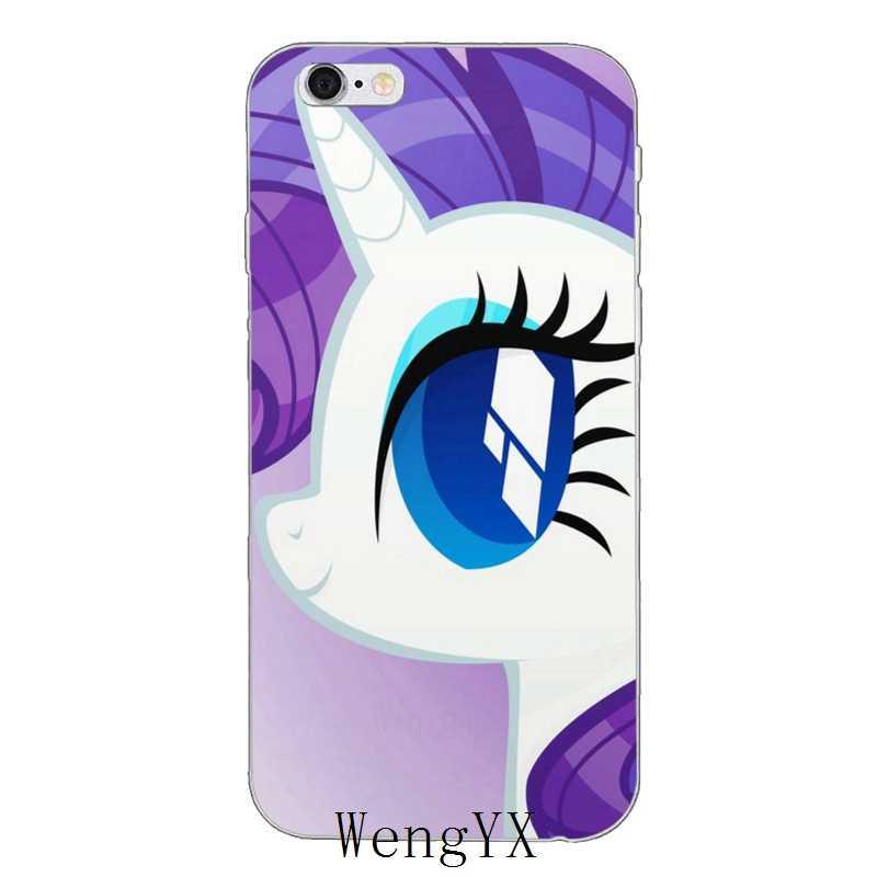 Прекрасный Фиолетовый my little pony Редкость тонкий мягкий силиконовый чехол для телефона для iPhone 4 4S 5 5S 5c SE 6 6s плюс 7 7 plus 8 8 plus X
