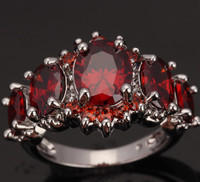 5 Pcs Oval Red Garnet 925 Sterling Silver Overlay Women S Fashion Jewelry High Quality For