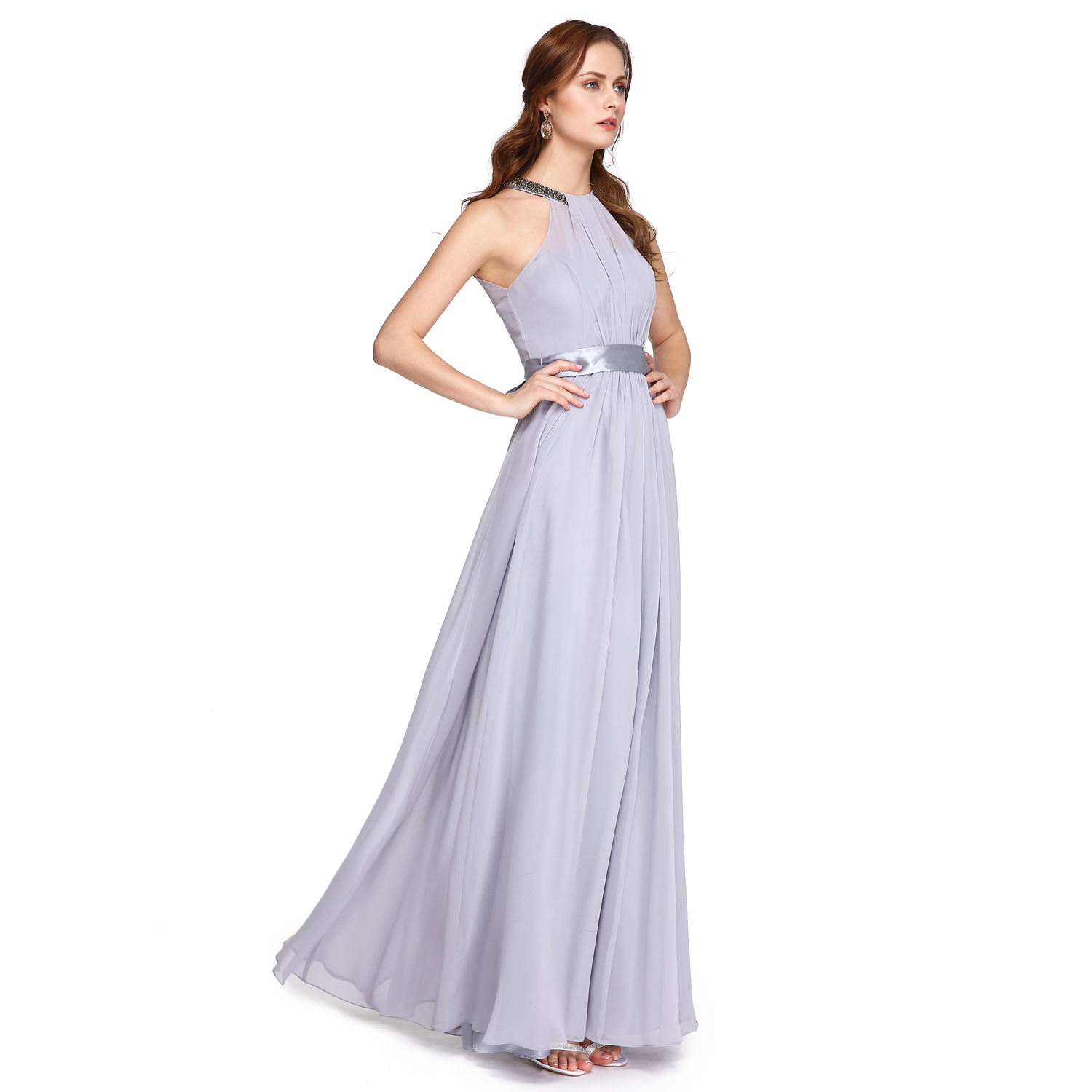 Couture Evening Gowns And Dresses: TS Couture A Line High Neck Ankle Length Charmeuse Prom