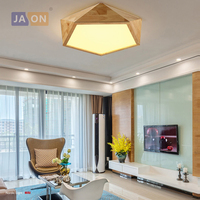 ¡LED nórdico de hierro de madera acrílico lámpara LED luz LED luces de techo LED Luz de techo! Lámpara de techo para dormitorio