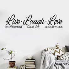 English Words Wall Stickers LIVE LAUGH LOVE Removable  Home Decoration High Quality Vinyl Sticker Art Decal