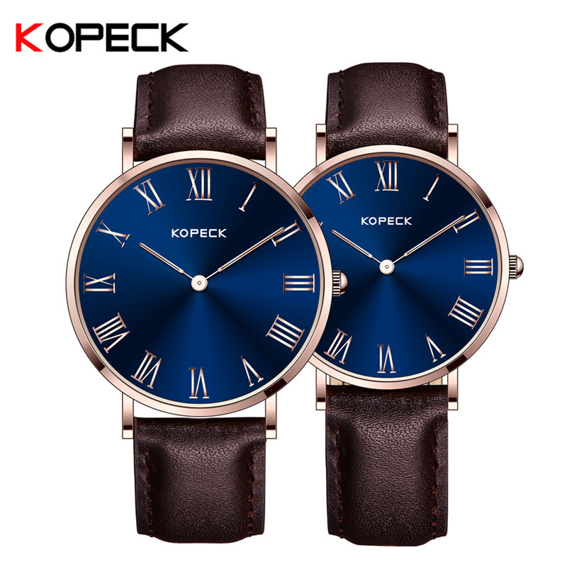 Kopeck Quartz Watch Lovers Watches Women Men Couple Dress Watches Simple Leather Wristwatches Fashion Casual Clock Paar Horloges 2016 lovers watches wwoor quartz couple watch women men dress pair watches dress wristwatches fashion casual watches for lovers