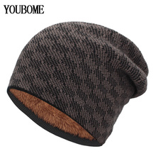 YOUBOME Knitted Hat Women Skullies Beanies Winter Hats For M