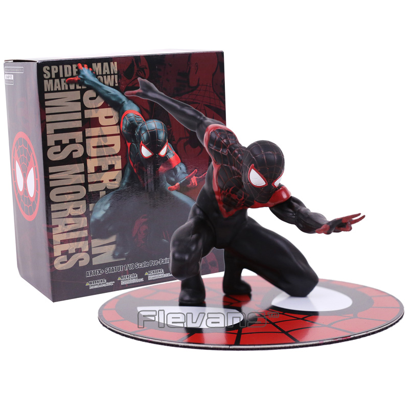 Miles Morales Spider Man ARTFX + STATUE 1/10 Scale Pre-Painted Figure Collectible Model Toy final fantasy x 2 artfx 1 6 scale soft vinyl statue figure yuna unopened new