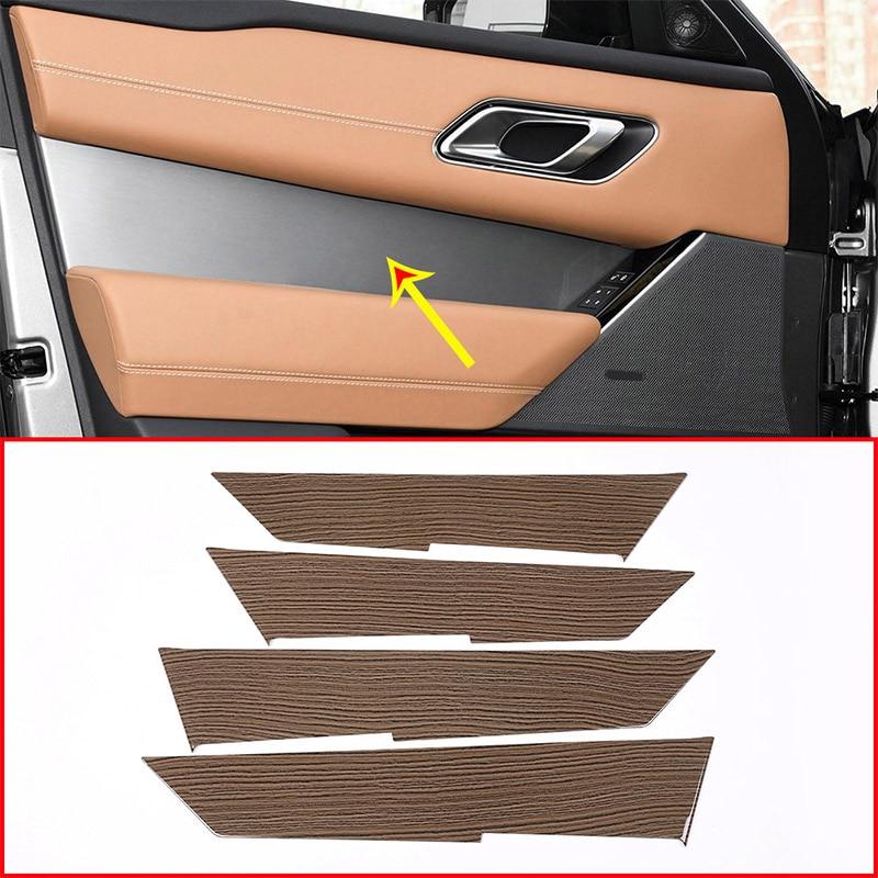 Sands Wood Grain ABS Plastic For Land Rover Range Rover VELAR 2017 2018 Car Interior Door Handle Panel Cover Trim 4pcs roomble тумба leontina на 3 секции бежевая