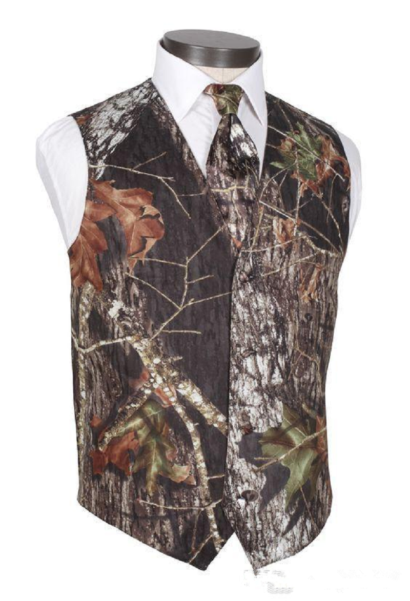 Real Tree Camo Groom Vest True Timber Camo Formal Mens Vest Groomsmen Cheap Camouflage Wedding Vest Plus Size