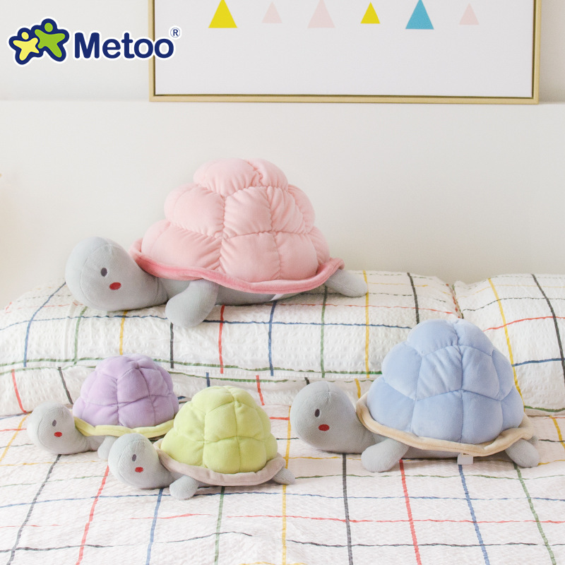 Cute Baby Kids Plush Cartoon Tortoise Toys Boys Girls Children Soft Lovely Dolls PP Cotton Infant Newborn Kawaii Gift Metoo girls mini messenger bag cute plush cartoon kids baby small coin purses lovely baby children handbags kids shoulder bags bolsa