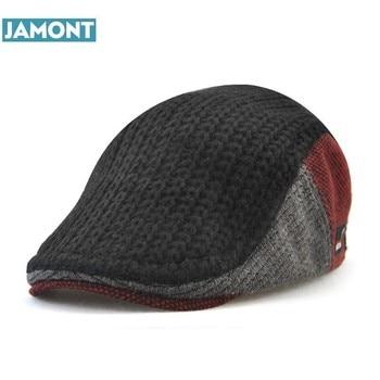 JAMONT nuevo Unisex Otoño Invierno Boina hebilla sombrero para hombres 5e6293fa00c