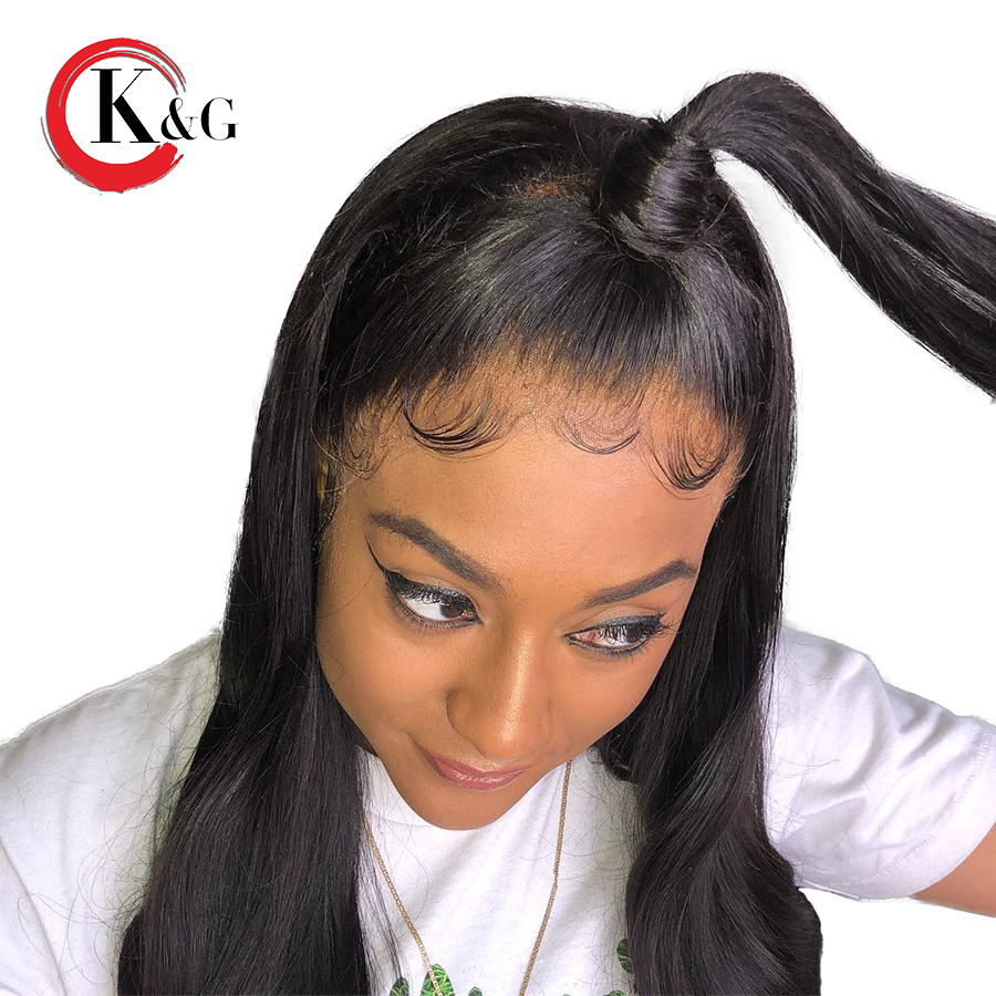 Kun Gang Straight 13 6 Inches Brazilian Lace Front Human Hair Wigs With Baby Hair Glueless