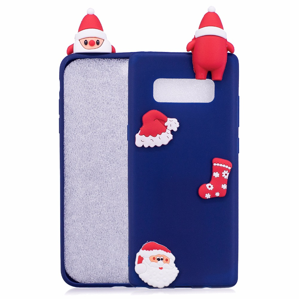 100PCS,For Huawei P10 3D Cute Christmas TPU Silicone Relief Case For Samsung Galaxy S8 S7 S6 Note 8 A3 A5 A7 J3 J5 J7 Iphone X