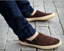 Летом 2016 года Англия мужской обуви мода скольжения на вождение мокасины квартира дом повседневный Холст обувь мокасины