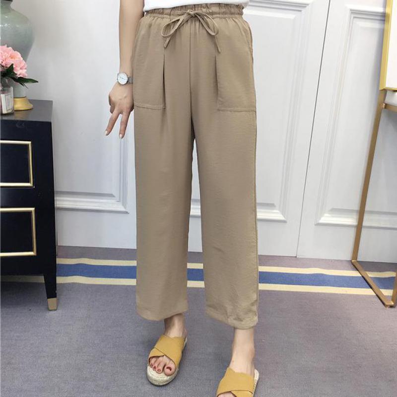 T-inside1174 2018 Summer Trousers For Women Elmer Mr Wonderful Shose Women Joggers Women Fake Designer Clothes Pants Female
