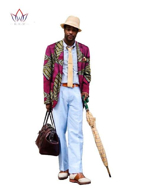 Пользовательские Африканской Печати Одежда Марка Одежды Пиджак для Мужчин Пиджак Dashiki Мужчин Пальто Вскользь Плюс Размер 6XL WYN88