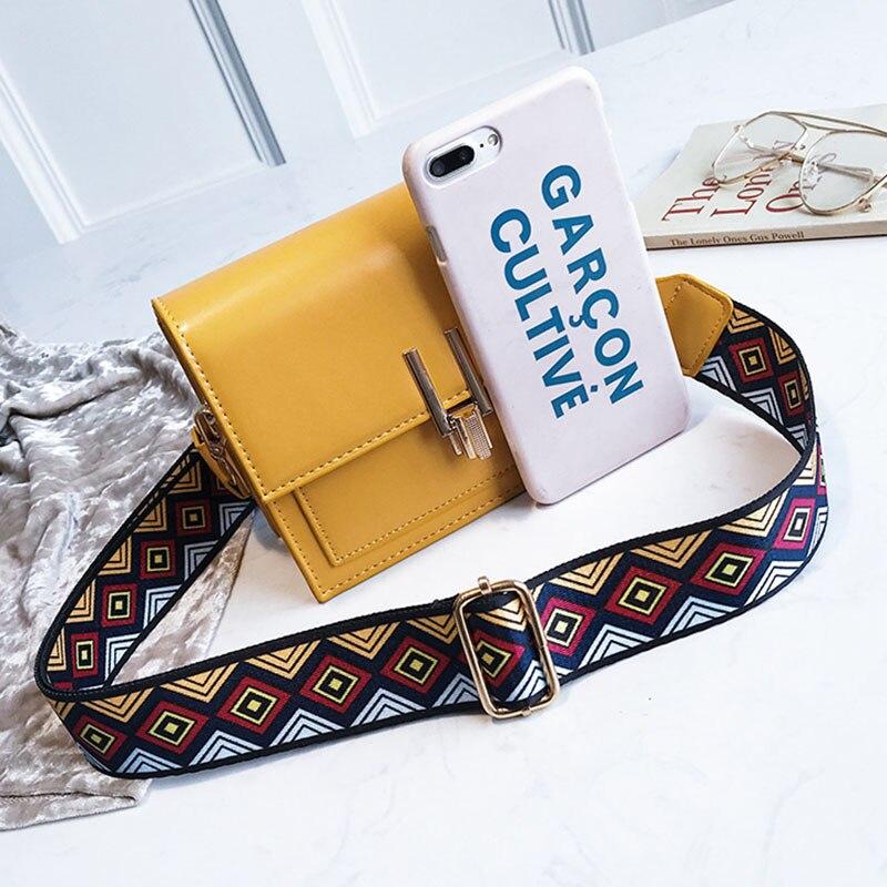 New Women Fashion Width Shoulder Bags INS Popular Female Exquisite Solid Handbag Mini Flap Lady Travel Chains Crossbody SS3474 (18)