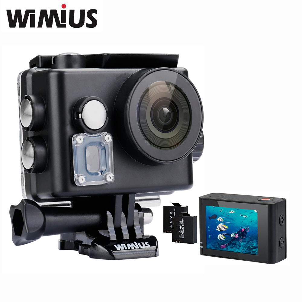 Wimius Q6 4K WIFI Action Camera Mini Video Sports Helmet 170D degree Wide Angle Cam DVR Full HD 1080P 2.0 Go Waterproof 60M Pro eken mini sports action cameras h9 h9r wide angle 4k 25fps hd video helmet cam 2 0 go underwater pro vr go pro cameras