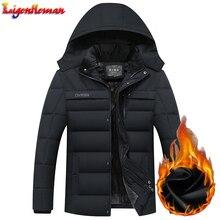Зимняя мужская флисовая парка, пальто, толстая Мужская куртка с капюшоном, теплое Мужское пальто, ветрозащитная верхняя одежда, Jaqueta Masculina