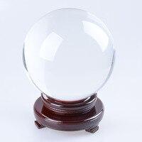 LS 180 мм фотография хрустальный шар орнамент фэншуй Глобус divination кварцевый волшебный стеклянный шар настольное ремесло Домашний Декор часть