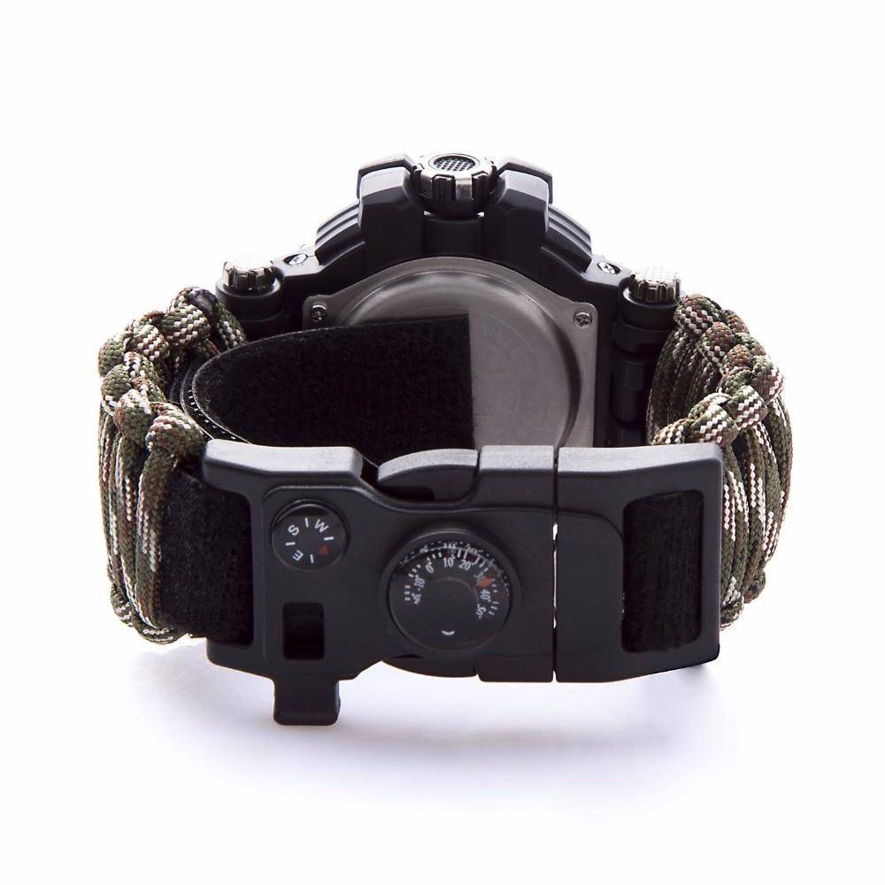新的户外生存手表手链多功能防水50M手表男士女士露营远足军事战术露营(3)
