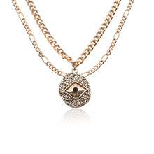 Hot Sale Fashion European And American Jewelry Wholesale Turkey Evil Eye Necklace Pendant Women Accessories