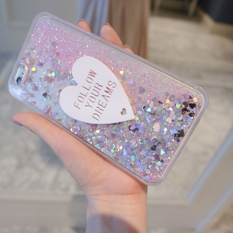 Phone Case For Meizu M3 M5 M6 Note Case cute Love Glitter Liquid Soft TPU Silicone Case For Meizu M6S M6T M5S M3 M3S MX6 Cover