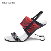 Gladiator Sandals Women shoes Metal High Heel Sandals Women Shoes Mixed Color Open Toe  2019 New Summer Women Sandals Size 34-39 great mixed color multi band sandals stiletto heel high quality sexy open toe shoes summer hot selling high heel sandals on sale