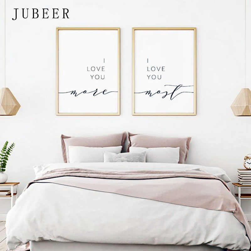I Love You More I Love You Most Posters And Prints Wall Decor Romantic Quote Print  Pictures Bedroom Decoration Home Decor