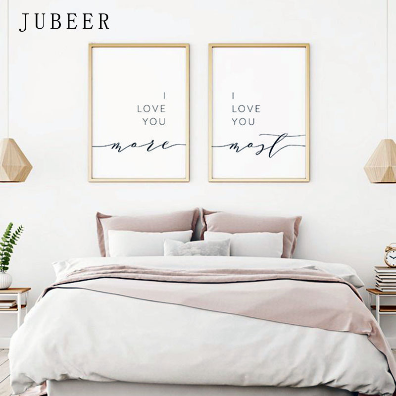 I Love You More Most Posters And Prints Wall Decor Romantic Quote Print  Pictures Bedroom Decoration Home