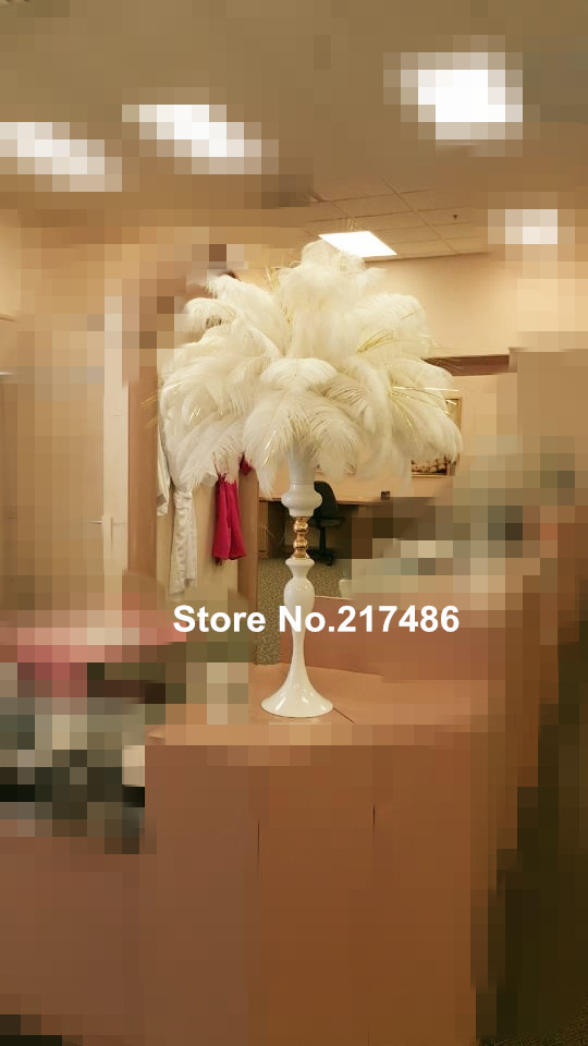 Wholesale Beautiful Tall Metal Flower Vase White Paited Flower Stand
