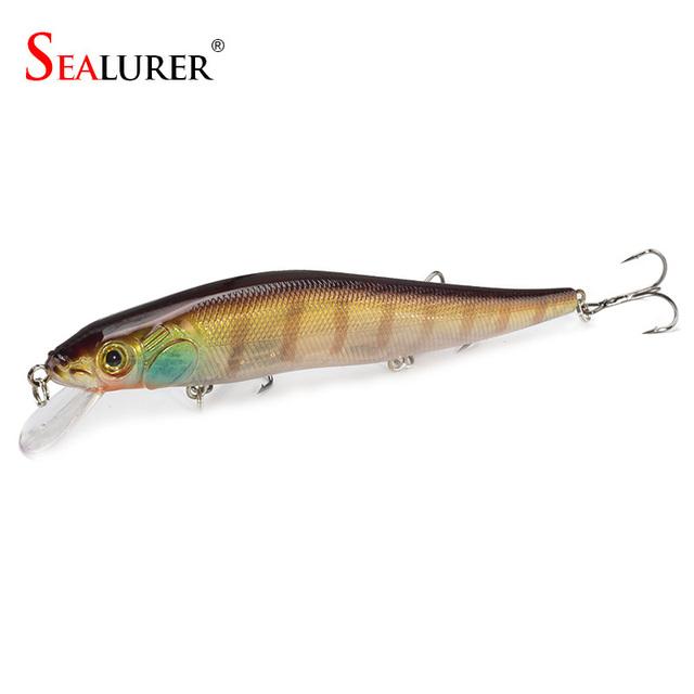 1PCS/lot 14 cm 23.7 g Fishing Lure Minnow Hard Bait with 3 Fishing Hooks Fishing Tackle Lure 3D Eyes Free Shipping