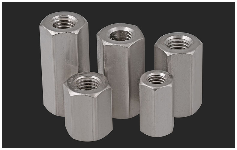 GB56 304 stainless steel extended nut hexagon nut M5 M6 M8 M10 M12 M16 M20 M24 nut double head square screw connection nut joint gb6184 304 stainless steel metal lock nut m3 m4 m5 m6 m8 m10 m12 m14 m16 m20 nut metal self locking nut anti loose nut