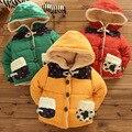 2017 de invierno nuevo estilo abrigo grueso muchacho niño niños lindos moda gruesa chaqueta de punto de algodón bolsillo de la chaqueta parkas