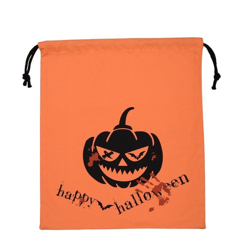 10pcs Halloween Candy Bags Ghost Festival Portable Pumpkin Bag Gift Bag Popular Decoration Props Supplies Party Bag