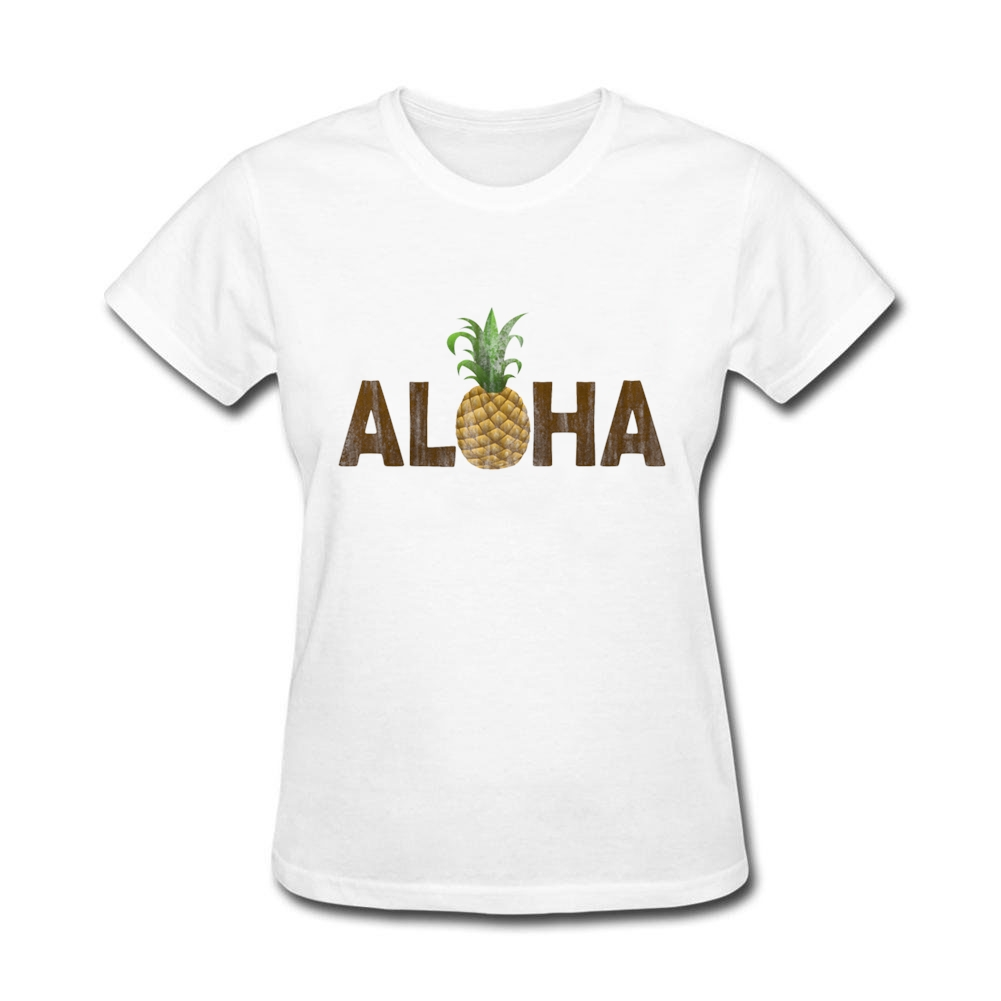 Simple style womens shirt clothing cheap wholesale aloha pineapple