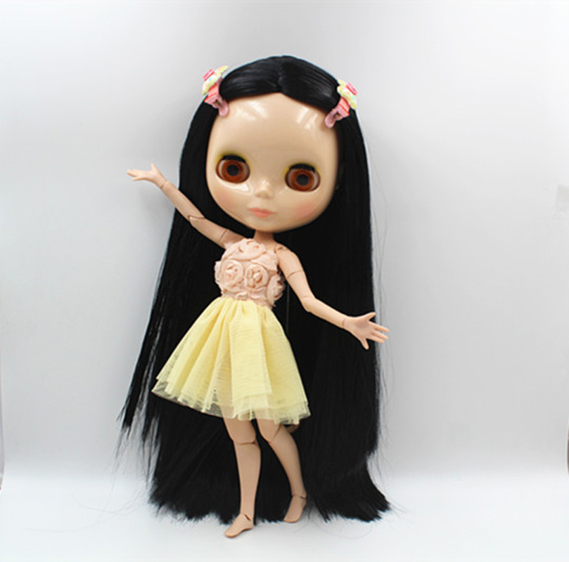 Free Shipping BJD joint RBL-367J DIY Nude Blyth doll birthday gift for girl 4 colour big eyes dolls with beautiful Hair cute toy free shipping cheap rbl no 1 7 diy nude blyth doll birthday gift for girls 4 colour big eyes dolls with beautiful hair cute toy