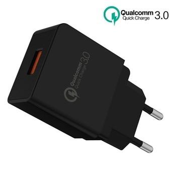 SONOVO شاحن الهاتف Quick Charge 3.0 5V2A / 9V2A / 12V 18W شاحن USB العالمي QC3.0 2.0 Fast Travel for Samsung LG Xiaomi Huawei