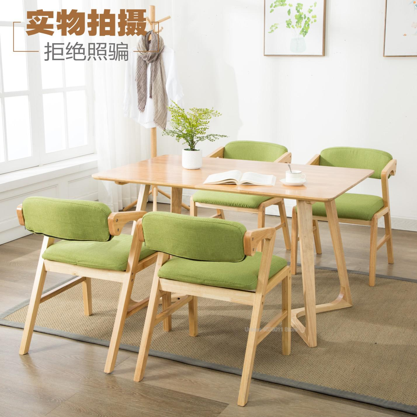 Us 107 3 17 Off Solid Wood Chair Nordic Dining Chair Simple Old Armchair Retro Hotel Study Computer Chair Lounge Chair In Dining Chairs From