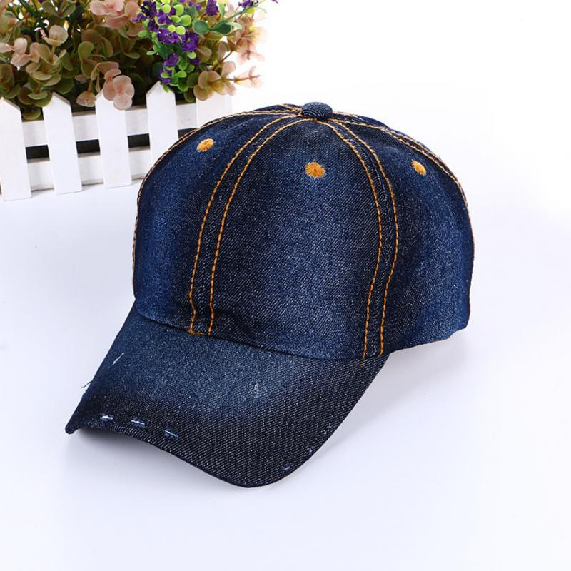 Hole Snapback Caps Denim Baseball Caps Bling Rhinestone Fashion Jean Hats  For Men Women Hats Caps Hip Hop Hat Adjustable-in Baseball Caps from  Apparel ... 26823b06b44f